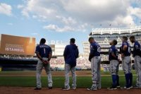 ABD'de New York Yankees-Texas Rangers beyzbol m...