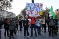 Paris'te Halep protestosu