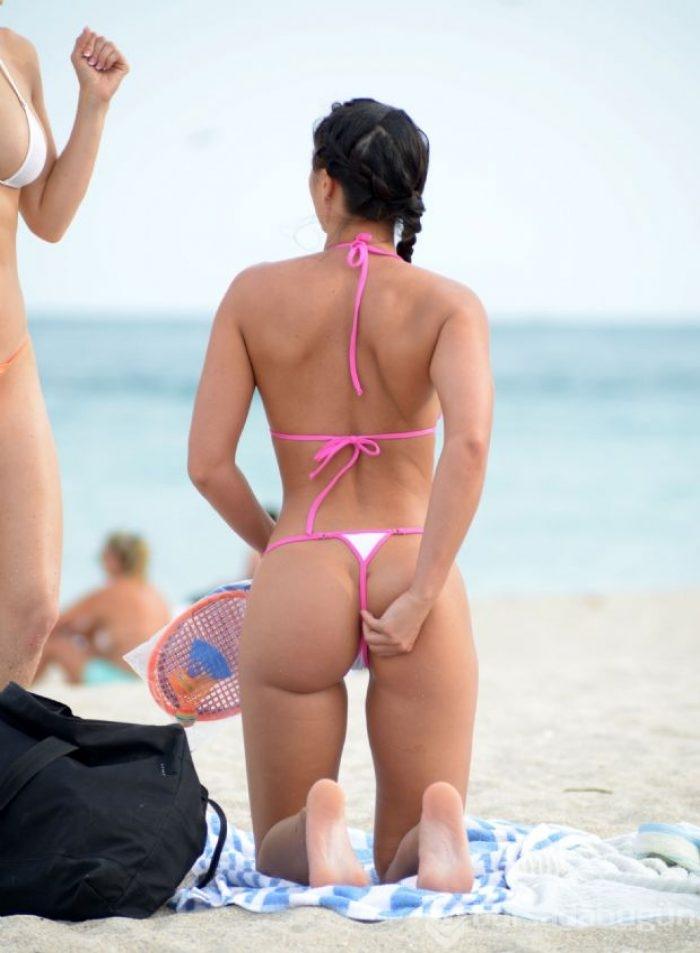Skye Blue Vika Model Wicked Weasel Micro Bikinis Strip Nude
