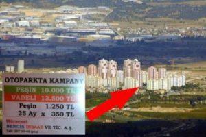 Bursa'da 10 bin liraya otopark - ÖZEL HABER