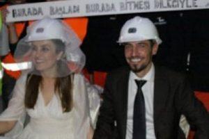 Yerin 90 metre altında evlendiler