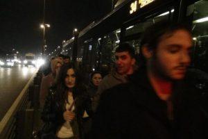 Bakırköy'de metrobüs çilesi