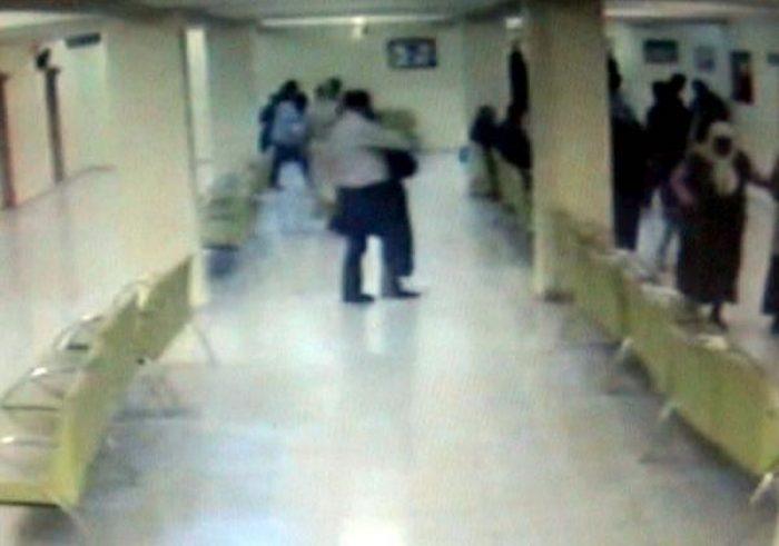 Hastane hırsızı güvenlik kamerasında