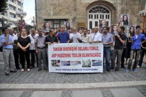 Taksim'de yaşananlara tekpi
