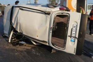 Ehliyetsiz sürücü kaza yaptı!