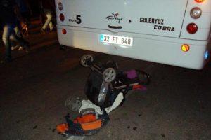 Anneyle bebeğini yaralayan alkollü sürücü serbest