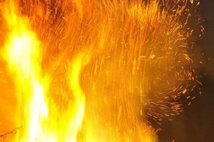 Makedonya'da Türk Çarşısı'nda yangın