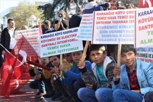 Bursa'da bütün köy şehre inip eylem yaptı