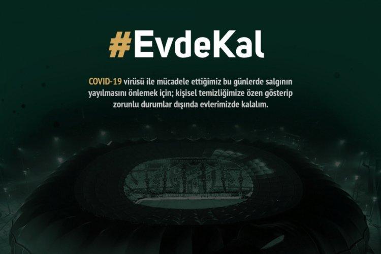 Bursaspor'dan koronavirüs paylaşımı