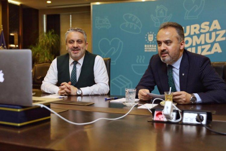 Bursa Büyükşehir Belediye Başkanı Aktaş ve Salman'dan korona toplantısı