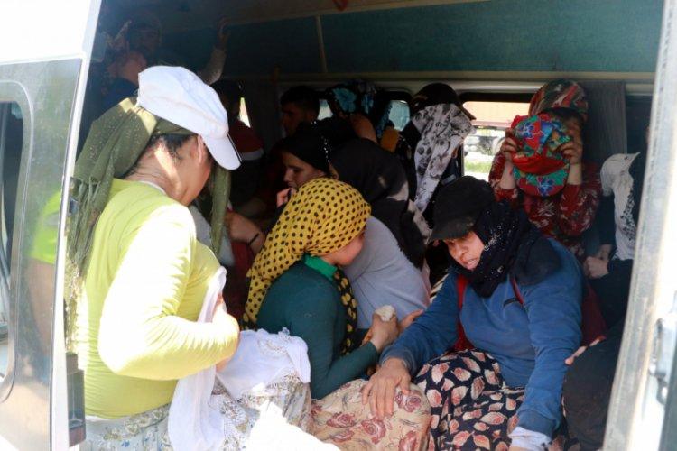 7 kişi taşınması gereken minibüsten 35 kişi çıktı - Bursada Bugün ...