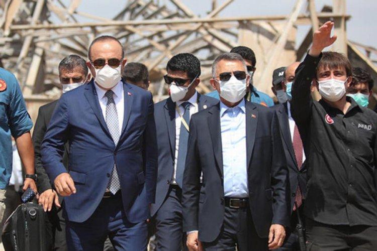 Fuat Oktay ve Dışişleri Bakanı Çavuşoğlu, Beyrut'ta Türklerin ...