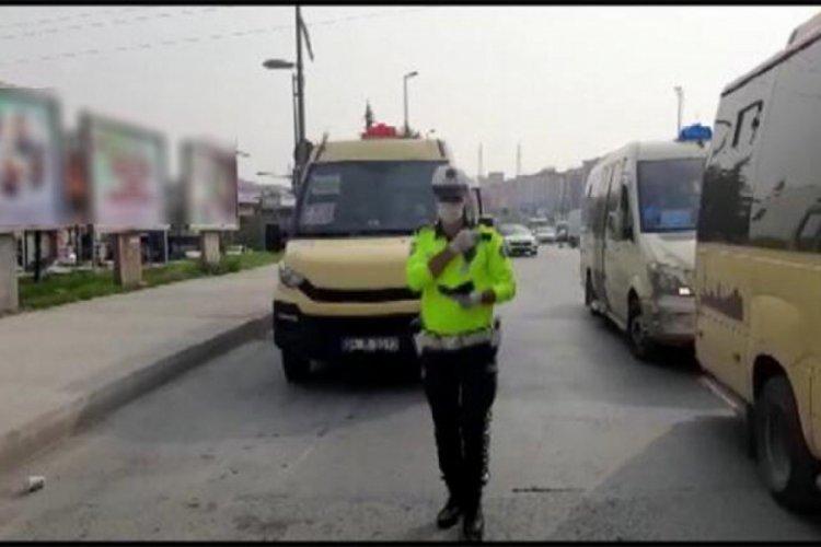 Koronavirüs denetiminde 15 minibüs şoförüne ceza