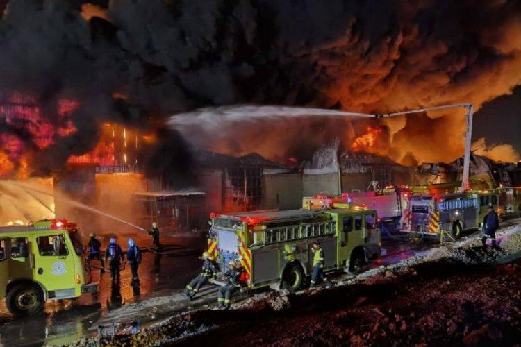 Suudi Arabistan'da yangın