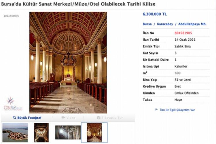 Bursa'da tarihi kilise satışa çıkarıldı! Fiyatı 6 milyon 300 bin lira