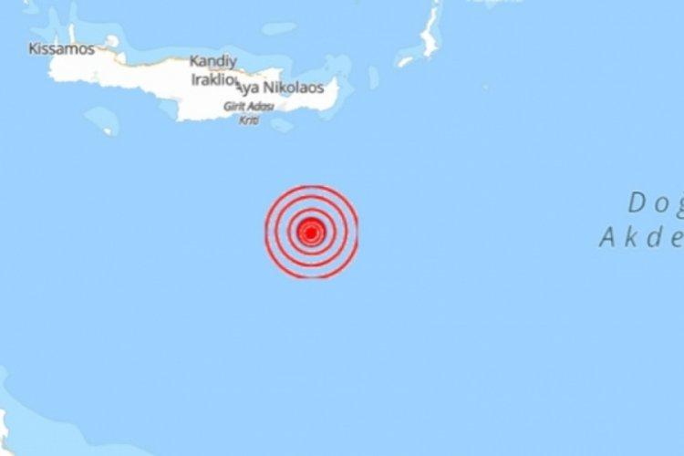 Girit Adası açıklarında korkutan deprem!