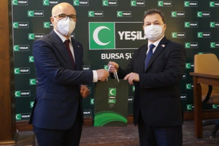 Bursa'da Kızılay ve Yeşilay el ele