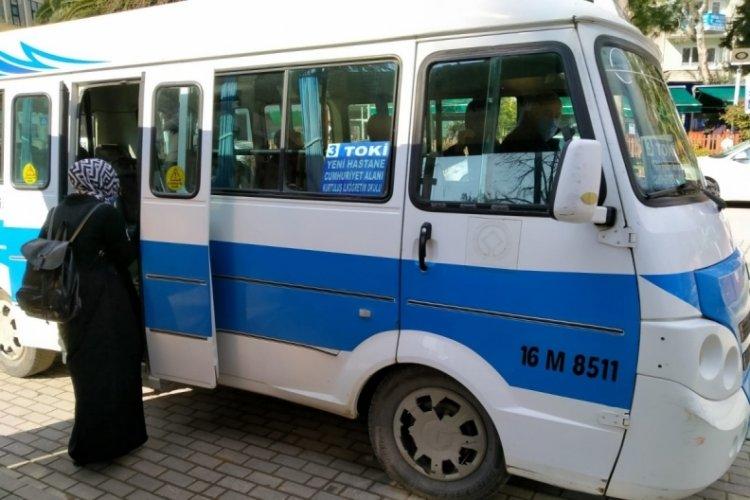 Bursa'da minibüsçüler pandemiye direndi