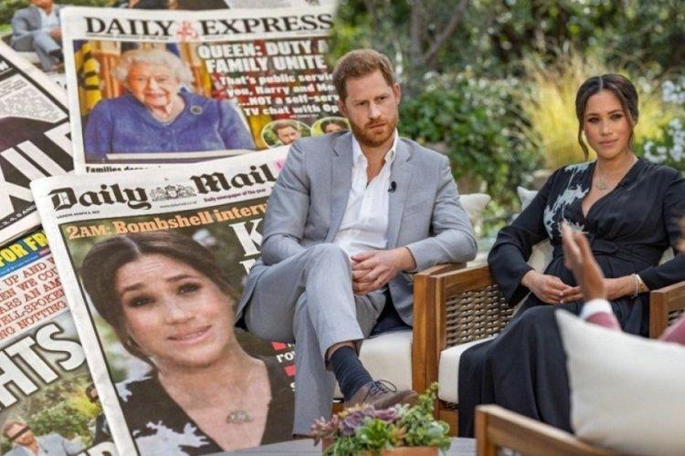 Meghan ve Harry, İngiliz basınının gündeminde