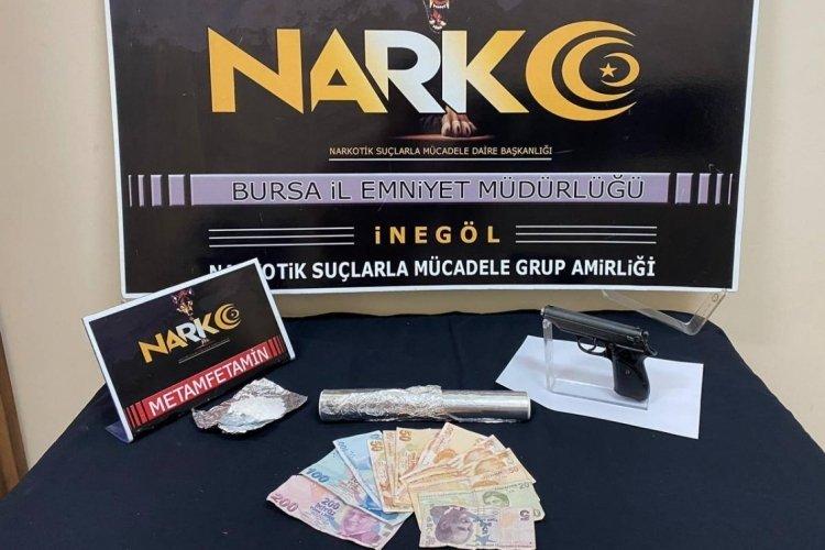 Bursa İnegöl'de uyuşturucu partisine baskın