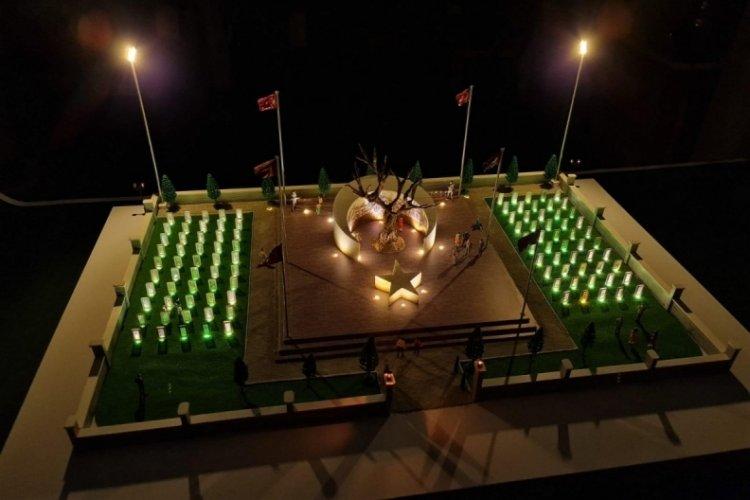 Çanakkale'de en çok şehit veren Bursa Orhaneli'ye şehitlik anıtı