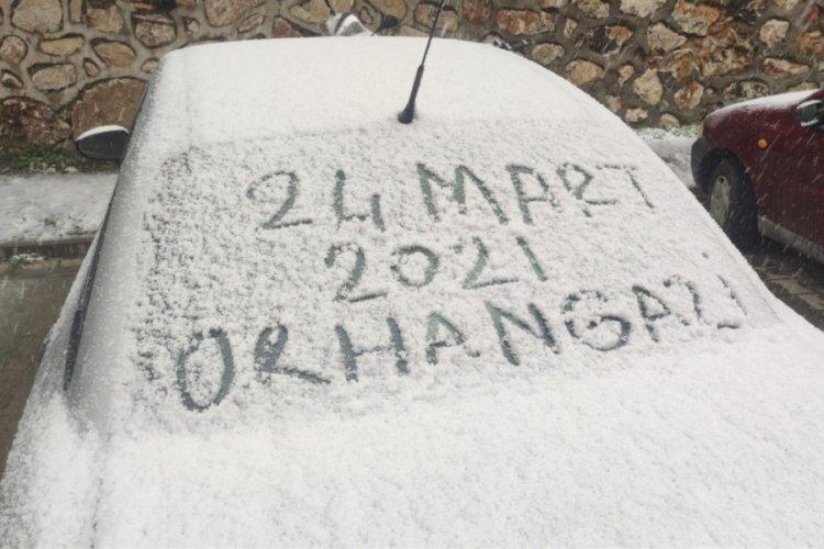 Bursa Orhangazi'ye de kar yağdı!