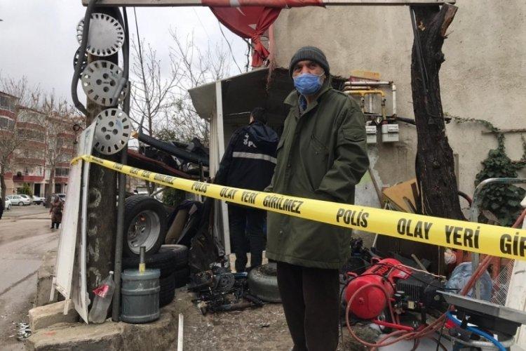 Tamirci dükkanında LPG tankı patladı