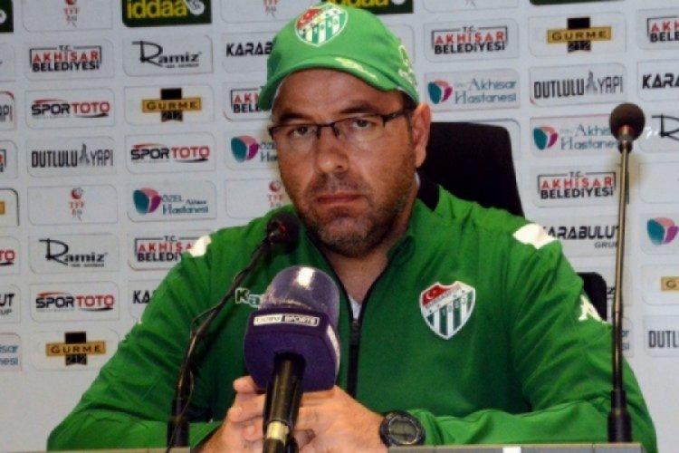 Bursaspor antrenörü Fazlı Tan: İstediklerimizi yapamadık