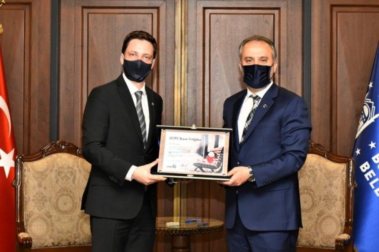 TÜGİAD'dan, Bursa Büyükşehir Belediye Başkanı Aktaş'a ziyaret