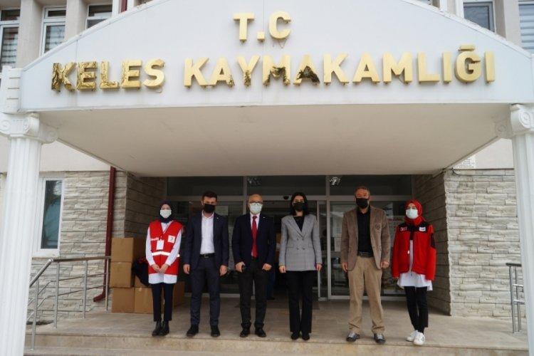 Türk Kızılay Bursa'dan Keles'e erzak yardımı