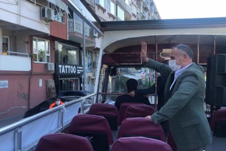 Bursa'da esnafa destek turu attılar