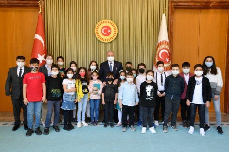TBMM Başkanı Şentop, öğrencileri kabul etti