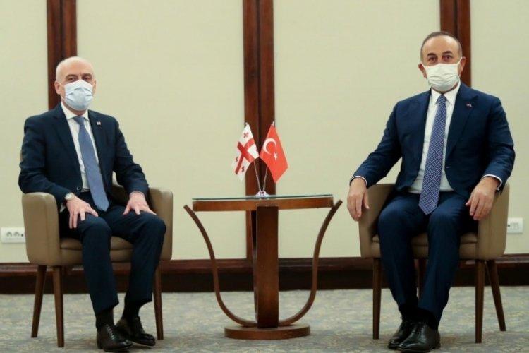 Bakan Çavuşoğlu, Gürcistan Dışişleri Bakanı Zalkaliani ile görüştü