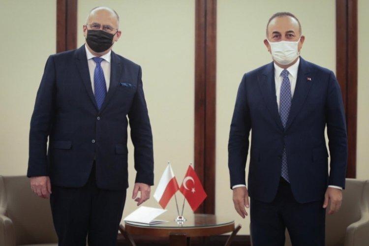 Çavuşoğlu, Polonya Dışişleri Bakanı Rau ile görüştü