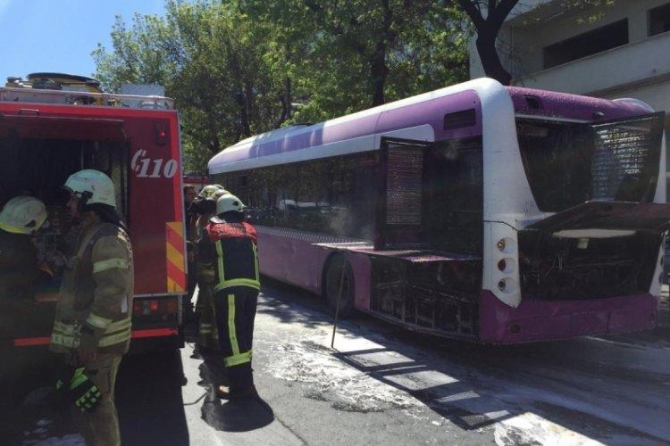 İETT otobüsünde yangın