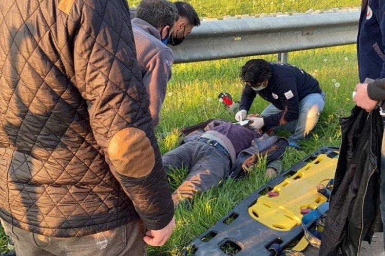 Bursa'daki kazada baba ve oğlu yaralandı