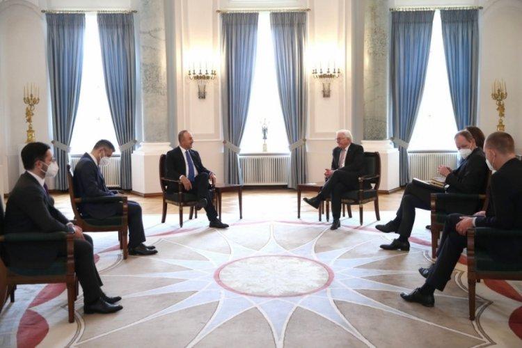 Çavuşoğlu, Almanya Cumhurbaşkanı Steinmeier ile görüştü