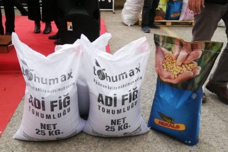 Bursa Karacabeyli üreticilere yüzde 75 hibeli kuru fasulye tohumu dağıtıldı