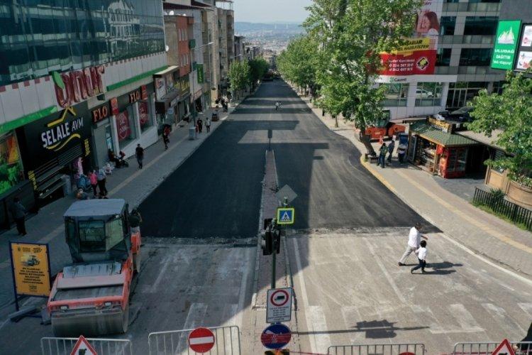 Bursa Profesör Tezok Caddesi yenilendi