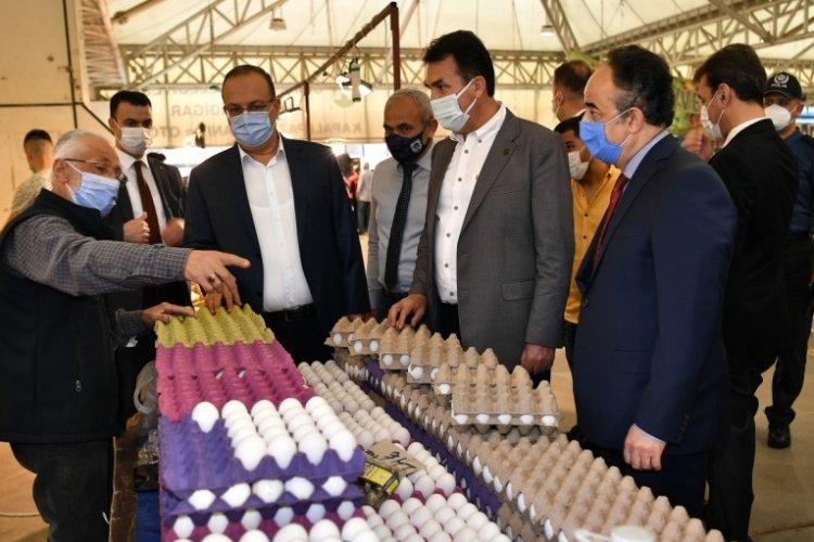 Bursa'da pazarları Vali Canbolat ve Mustafa Dündar denetledi