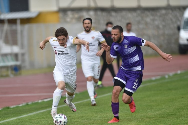 İnegölspor, Hacettepe Spor karşısında galibiyeti aldı