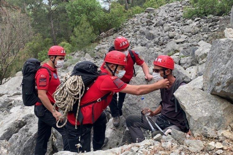 Kayıp İtalyan turist, jandarma tarafından kurtarıldı