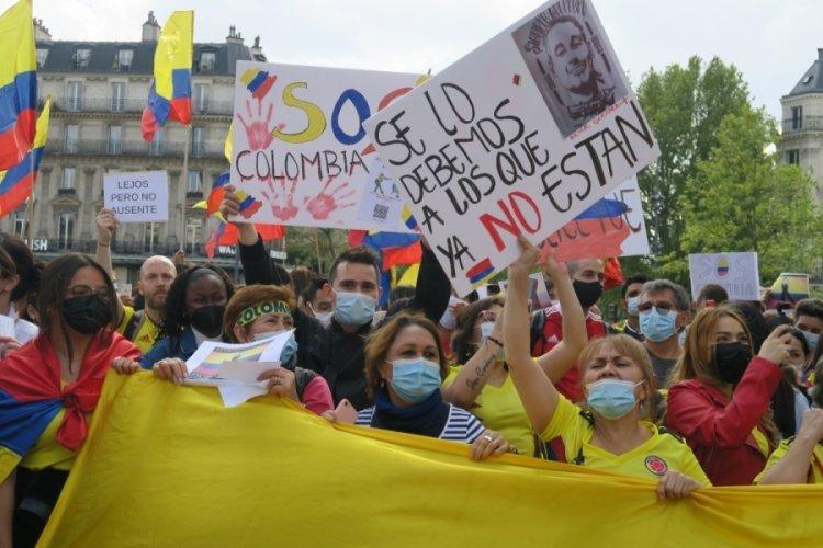 Kolombiya protestoları Paris'e sıçradı