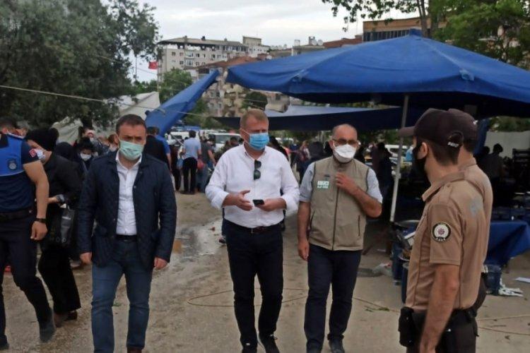 Bursa Mudanya Kaymakamı Sözer, pazar yerlerini denetledi