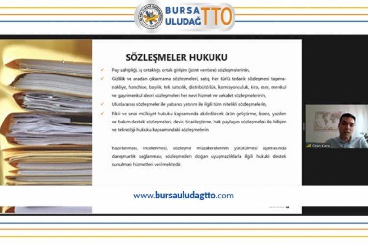 Bursa Uludağ TTO, kapanmada eğitimlere devam ediyor