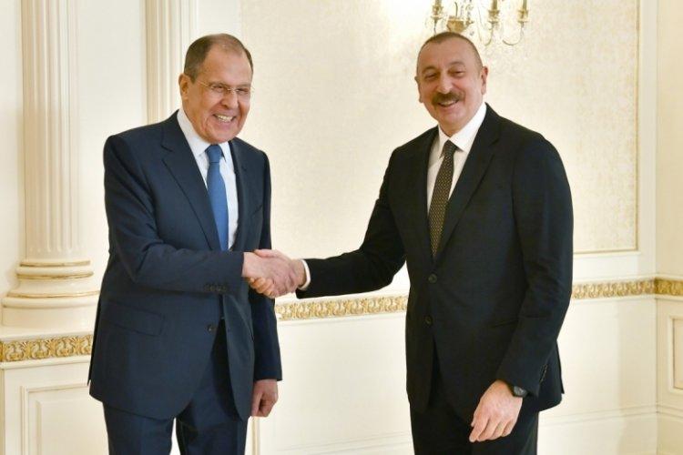 Aliyev, Rusya Dışişleri Bakanı Lavrov ile görüştü