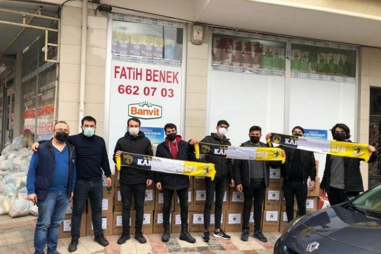 Bursa Karacabey'deki Genç Fenerbahçeliler, 250 aileye gıda yardımı yaptı