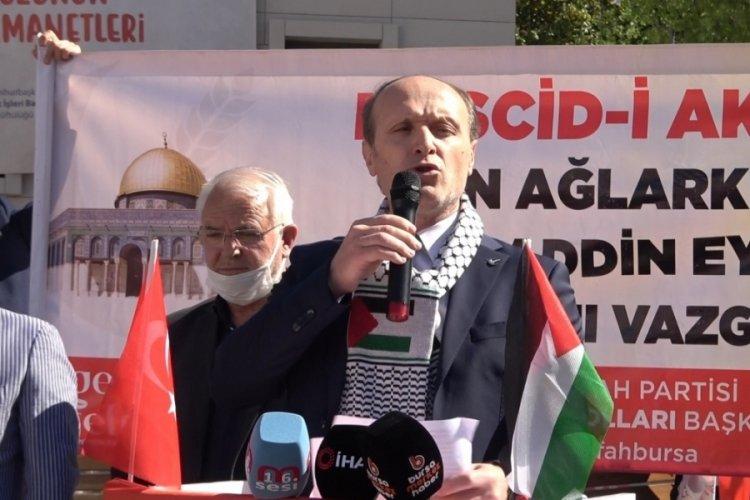 Yeniden Refah Partisi, Bursa teşkilatı, İsrail saldırılarını protesto etti