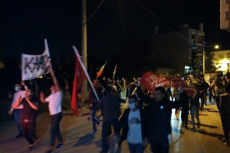 Bursa'da Gürsulular Filistin için sokağa çıktı