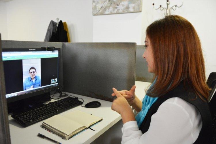 Bursa'da 'İşaret Dili Görüşme Hattı' ile engelsiz hizmet